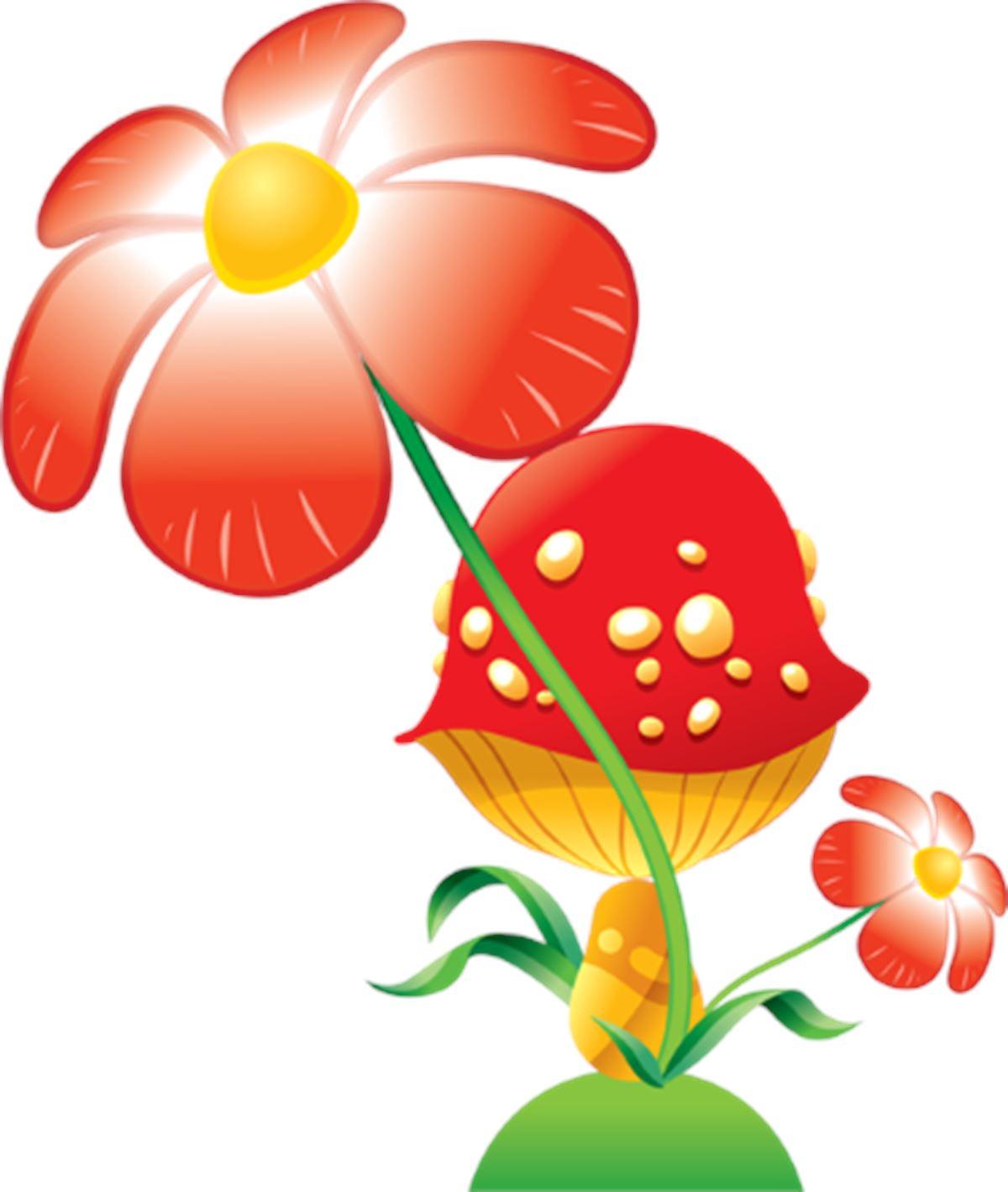 Adesivi murali fiore e fungo leostickers for Planner cameretta